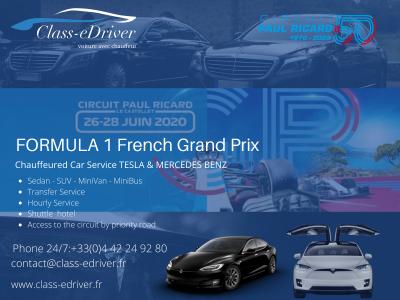 CHAUFFEUR SERVICE GRAND PRIX DE FRANCE DE FORMULE 1